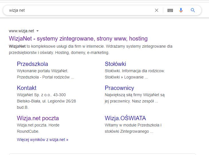 serp google, lista wyników google